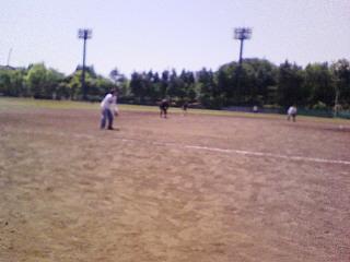朝から野球